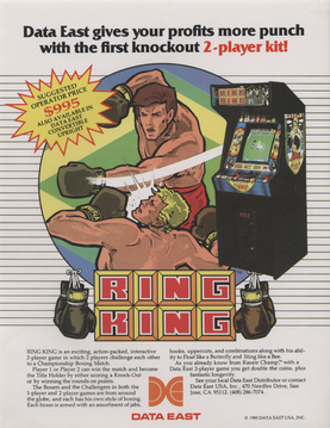 Ring King - North American Ring King arcade flyer.