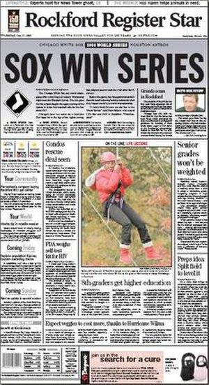 Rockford Register Star - Image: Rockford Register Star