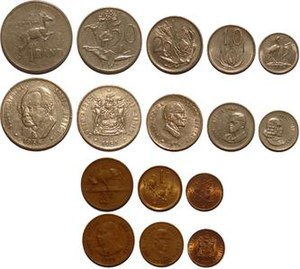 Coins of the South African rand - South African coins issued between 1965 and 1988
