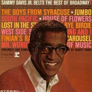 Sammy Davis Jr. Belts the Best of Broadway - Image: Sammybest
