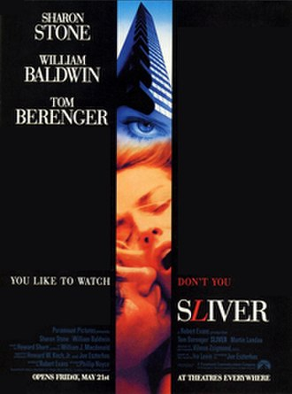 Sliver (film) - Theatrical release poster