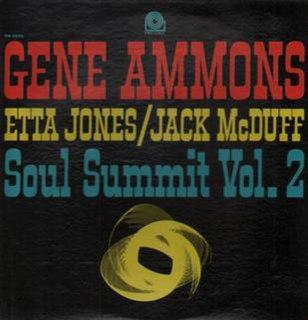 <i>Soul Summit Vol. 2</i> 1963 studio album by Gene Ammons with Etta James and Jack McDuff
