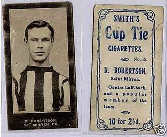 St Mirren F.C. - A cigarette card published in 1909 depicting a contemporary St Mirren player