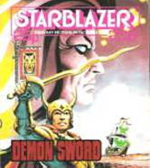 Starblazer - The later style of Starblazer cover from Issue 200, which had a wrap around effect. Also showing an emphasis on Fantasy storylines, this was the first appearance of the Kingdom of Anglerre.