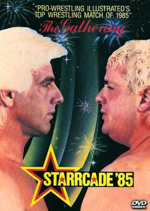 Starrcade (1985) - DVD cover featuring Ric Flair and Dusty Rhodes.