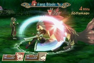 Tales of the Abyss - Luke performing his Fang Blade