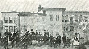 "Bulgarian Men's High School of Thessaloniki - The Bulgarian Men's High School ""Saints Cyril and Methodius"" in Thessaloniki in the beginning of the 20th century"