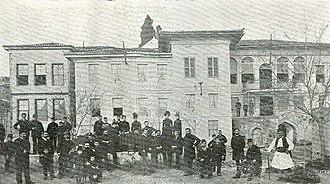 """Bulgarian Men's High School of Thessaloniki - The Bulgarian Men's High School """"Saints Cyril and Methodius"""" in Thessaloniki in the beginning of the 20th century"""