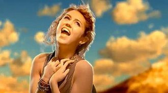 """The Climb (Miley Cyrus song) - Cyrus portrayed singing at the top of the mountain in the music video to """"The Climb"""". This setting is similar to that of the music video for """"I'm Not a Girl, Not Yet a Woman"""" by Britney Spears."""