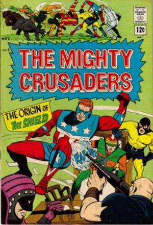 Mighty Crusaders - The Mighty Crusaders No. 1 (Nov. 1965). Cover art by Paul Reinman.