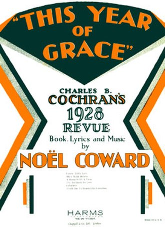 This Year of Grace - Page from sheet music (cropped)