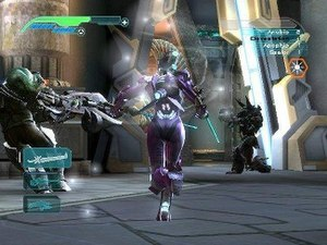 Unreal Championship 2: The Liandri Conflict - The game's use of third-person perspective when using a melee weapon affords the player greater control in combat.