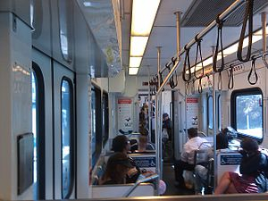Santa Clara Valley Transportation Authority light rail - Interior of a VTA Light Rail Vehicle