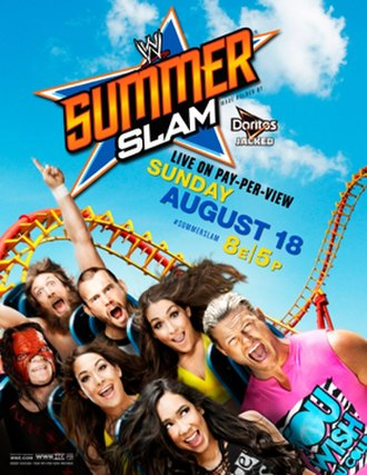SummerSlam (2013) - Promotional poster showing various WWE wrestlers