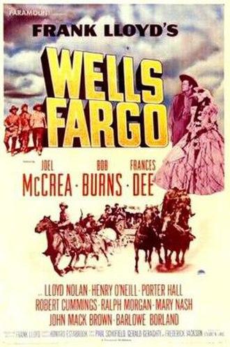 Wells Fargo (film) - Image: Wells Fargo Film Poster