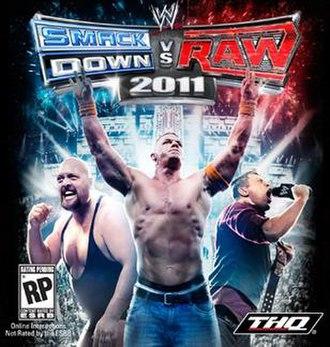 WWE SmackDown vs. Raw 2011 - NTSC cover art featuring Big Show, John Cena and The Miz