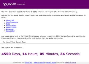 Yahoo! Time Capsule - Image: Yahoo! Time Capsule