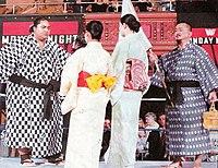 Yokozuna (left) and Mr. Fuji on the very first episode of Monday Night RAW.