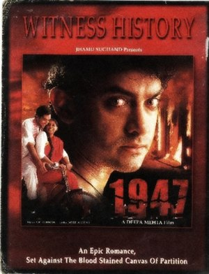 Earth (1998 film) - Image: 1947 Earth film poster Aamir Khan