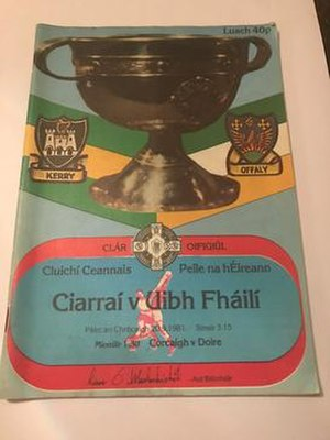 1981 All-Ireland Senior Football Championship Final - Image: 1981 All Ireland Senior Football Championship Final program