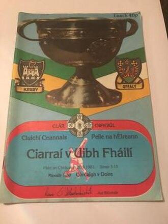 1981 All-Ireland Senior Football Championship Final - Image: 1981 All Ireland Senior Football Championship Final program