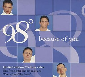 Because of You (98 Degrees song) - Image: 98 Degrees Because Of You 396834