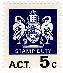 Revenue Stamps Of The Australian Capital Territory