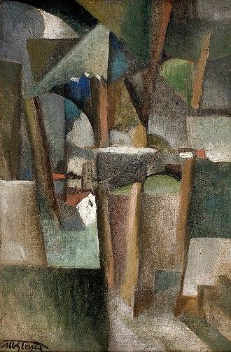 Société Normande de Peinture Moderne - Albert Gleizes, 1910-12, Les Arbres (The Trees), oil on canvas, 41 x 27 cm