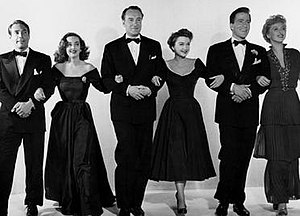 The principal cast of All About Eve. (Left to ...