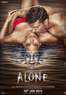 <i>Alone</i> (2015 Hindi film) 2015 film by Bhushan Patel