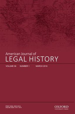 American Journal of Legal History - Cover of the American Journal of Legal History