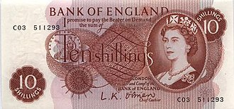 Bank of England 10s note - Image: Bank of England 10s obverse