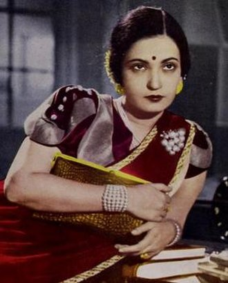 "Begum Akhtar - Screen shot as ""Akhtari Fyzabadi"" from film Roti (1942)"