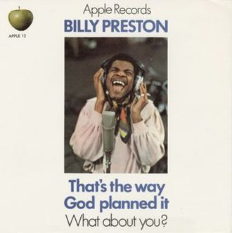 That's the Way God Planned It (song) - Image: Billy Preston, That's the Way God Planned It, UK picture sleeve