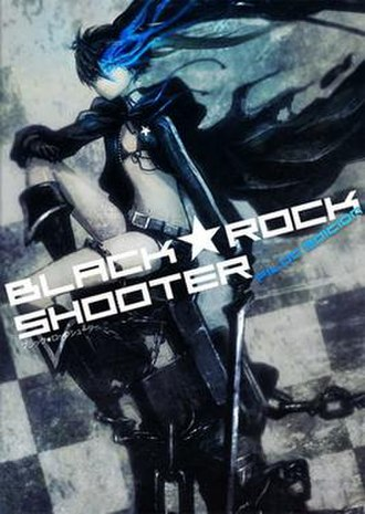 """Black Rock Shooter - Cover of the """"Pilot Edition"""" DVD released by Good Smile Company, featuring the title character."""