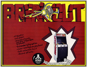 Breakout (video game) - An early arcade flyer of Breakout