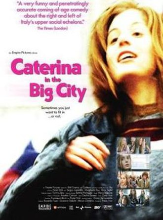 Caterina in the Big City - DVD cover for the film