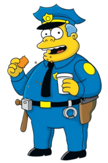 Chief Wiggum Fictional character from The Simpsons franchise