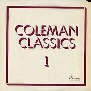 Coleman Classics Volume 1 - Image: Coleman Classics Volume 1