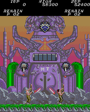 The first stage of Contra (arcade version).
