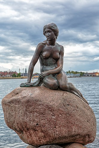 The Little Mermaid - The Little Mermaid statue in Copenhagen, Denmark
