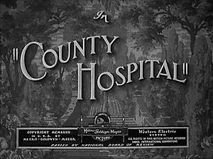 County Hospital (film) - Image: Countyhospitaltitlec ard