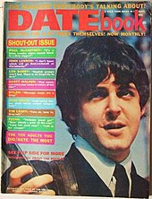 The cover of Datebook magazine quoting John Lennon.