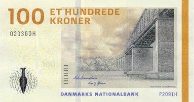 DKK 100 obverse (2009)