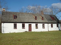 The Anne Arundel Free School, constructed sometime between 1724 and 1746, is located in Davidsonville in the community of Lavall