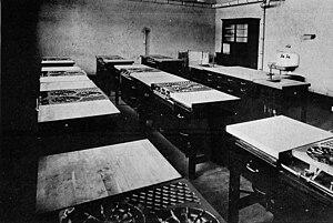 Tecumseh High School (Michigan) - Domestic Science room circa 1922.