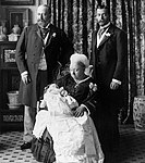 Edward VIII wearing the gown at his christening.