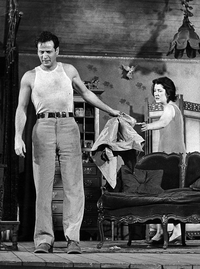 "Eli Wallach in Tennesse Williams' ""The Rose Tattoo"" adaption in 1951"