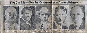 Andrew Jackson Bettwy - Arizona 1930 primary gubernatorial election candidates
