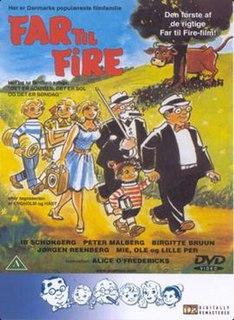 <i>Father of Four</i> 1953 Danish family comedy film